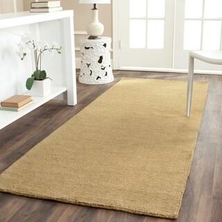 Safavieh Handmade Himalaya Solid Green Wool Runner Rug (2'3 x 8')
