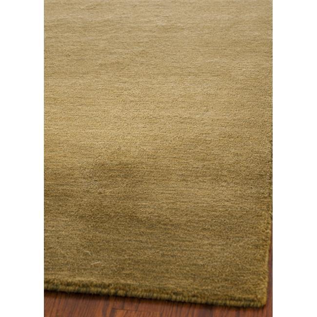 Safavieh Handmade Himalaya Solid Green Wool Area Rug (5' x 8')
