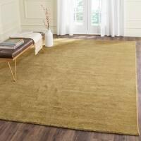 Safavieh Handmade Himalaya Solid Green Wool Area Rug - 8' x 10'