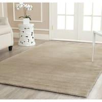 Safavieh Handmade Himalaya Solid Grey Wool Area Rug - 4' x 6'