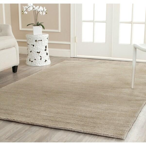 Safavieh Handmade Himalaya Solid Grey Wool Area Rug - 5' x 8'