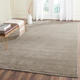 Safavieh Handmade Himalaya Solid Grey Wool Area Rug (8' x 10')