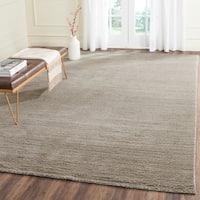 Safavieh Handmade Himalaya Solid Grey Wool Area Rug - 8' x 10'