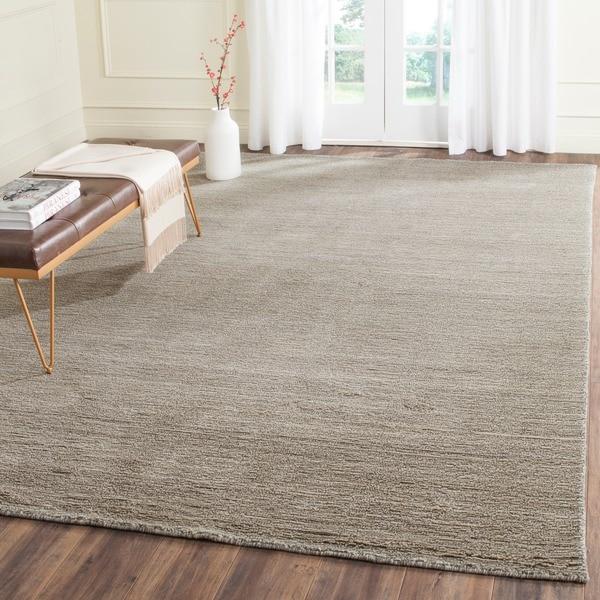 Safavieh Handmade Himalaya Solid Grey Wool Area Rug 8 X