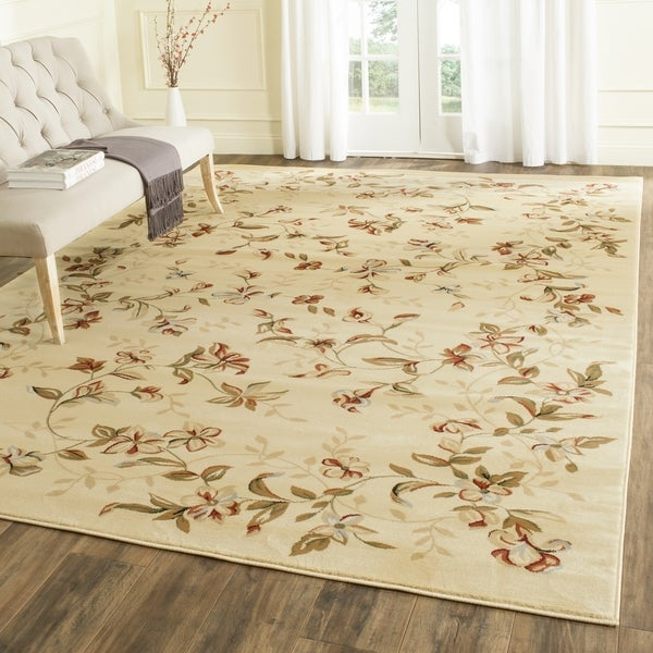 Safavieh Lyndhurst Traditional Floral Beige Rug (8' 11 x 12' rectangle)