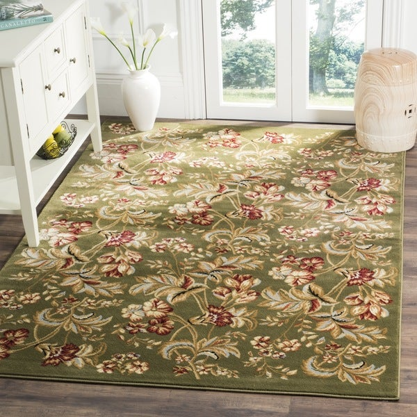 Safavieh Lyndhurst Traditional Floral Sage Rug (8' 11 x 12' RECTANGLE)