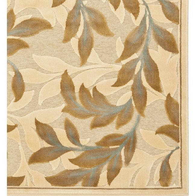 Safavieh Paradise Foliage Cream Viscose Rug (8' x 11' 2 ) - Thumbnail 1