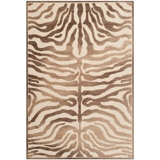 Safavieh Paradise Tiger Strip Cream Viscose Rug (5'3 x 7'6)