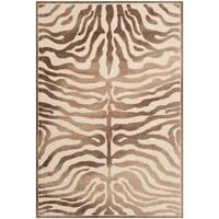 Safavieh Paradise Tiger Strip Cream Viscose Rug - 5'3' x 7'6'