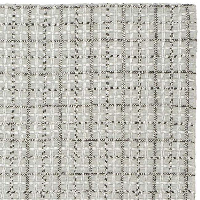 Safavieh Handmade South Hampton Basketweave Silver Rug (4' x 6')