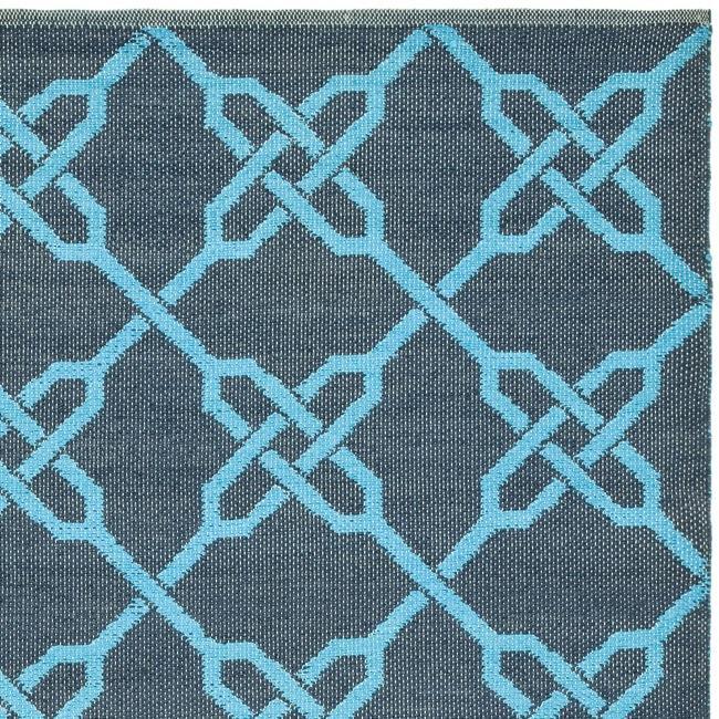 Handmade Thom Filicia Tioga Spray/ Blue Outdoor Rug (6' x 9')
