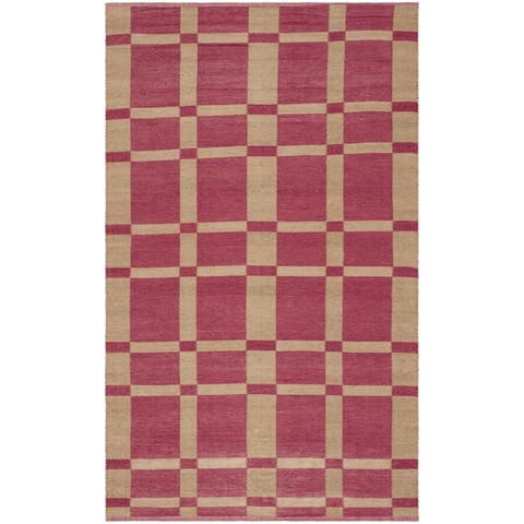 Handmade Thom Filicia Chatam India Red Outdoor Rug - 2' x 8'