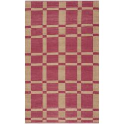 Handmade Thom Filicia Chatam India Red Outdoor Rug - 6' x 9'