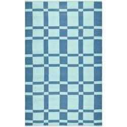 Handmade Thom Filicia Chatham Sea Blue Outdoor Rug - 6' x 9' - Thumbnail 0