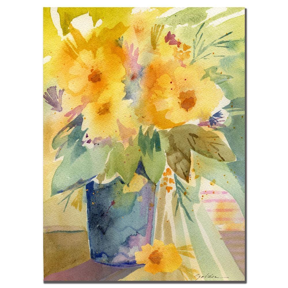 Sheila Golden 'Bouquet in Yellow' Canvas Art