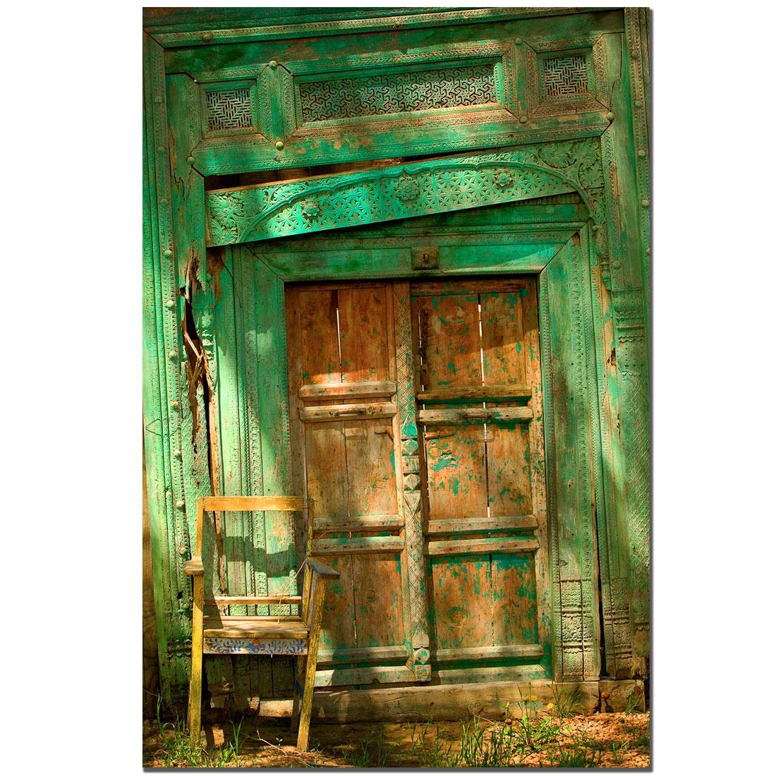 Preston 'Temple Door' Canvas Art - Thumbnail 2