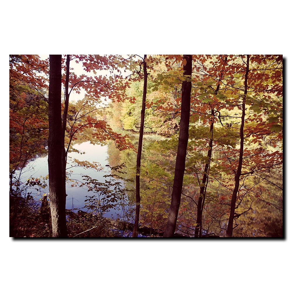 Kurt Shaffer 'A Secret Pond' Canvas Art - Thumbnail 1
