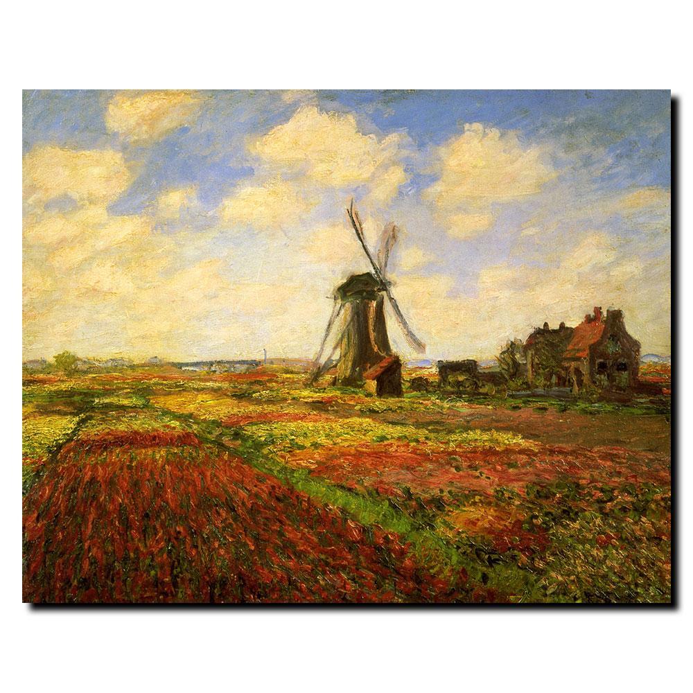Claude Money 'Tulips in a Field' Canvas Art - Thumbnail 1