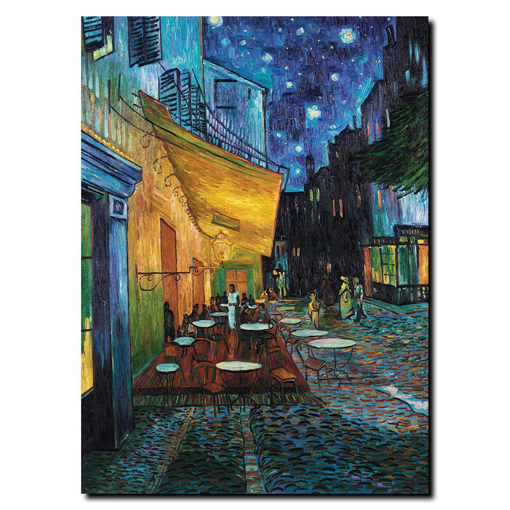 Van Gogh 'Cafe Terrace' Canvas Art - Thumbnail 1