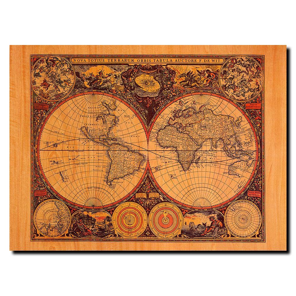Michelle Calkins 'World Map' Canvas Art