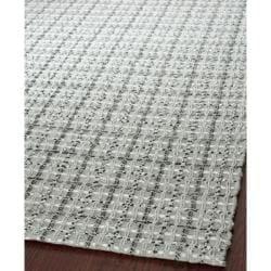 Safavieh Handmade South Hampton Basketweave Silver Rug (8' x 11')