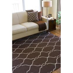 Hand-woven Providence Brown Flatweave Wool Rug (8' x 11') - Thumbnail 2