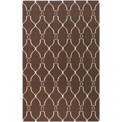 Hand-woven Providence Brown Flatweave Wool Rug (8' x 11')