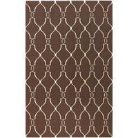 Hand-woven Providence Brown Flatweave Wool Area Rug (8' x 11')