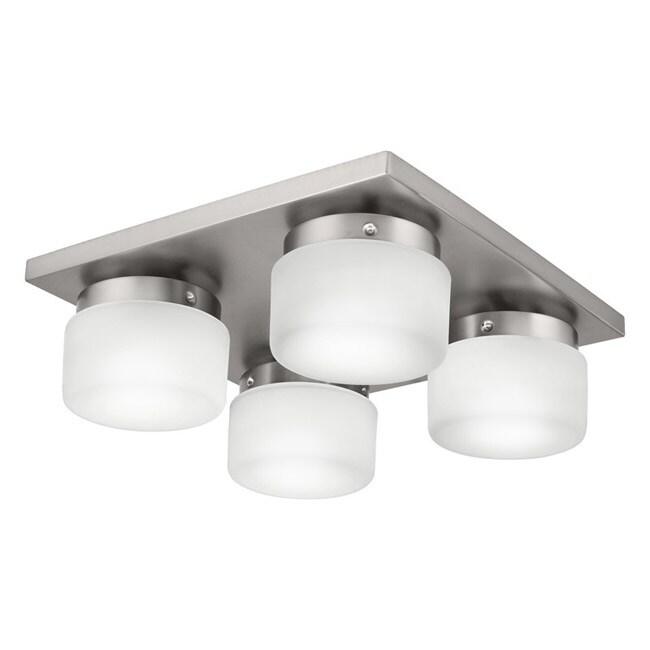 Circa 4-light Fluorescent Flush Mount Ceiling Fixture