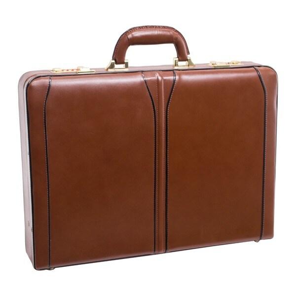 McKlein USA Lawson Leather Attache Briefcase
