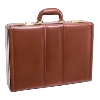 McKlein USA Daley Leather Attache Briefcase (Option: Brown)
