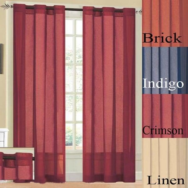 Bedford Faux Linen Grommet 90-inch Curtain Panel. Opens flyout.