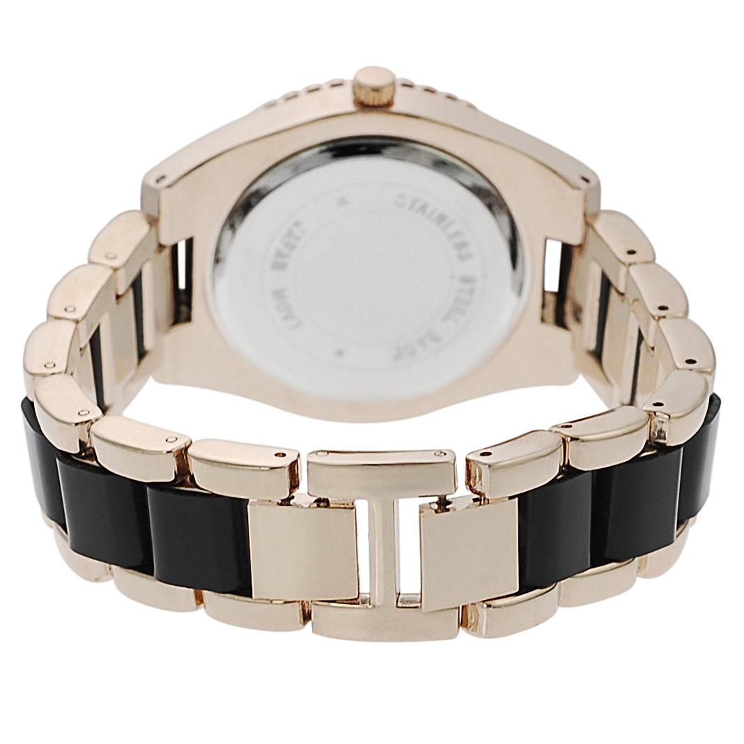 Geneva Platinum Women's Stainless-Steel Link Watch