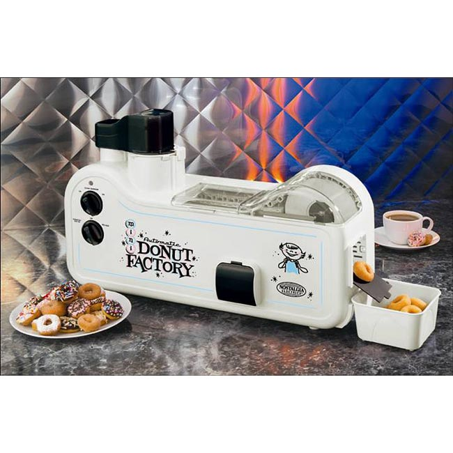 Nostalgia Electrics White Mini Donut Factory
