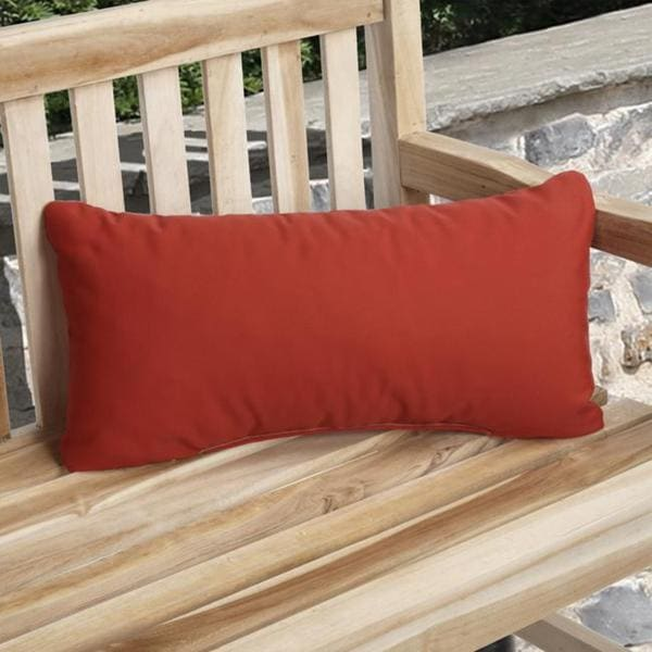 Charisma Outdoor Red Pillow Made with Sunbrella (Set of 2)