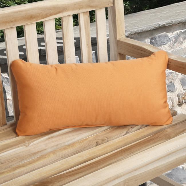 Charisma Outdoor Tangerine Pillow Made with Sunbrella (Set of 2)