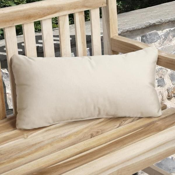 Charisma Outdoor Beige Pillow Made with Sunbrella (Set of 2)
