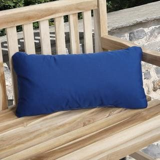 Charisma Indoor/ Outdoor True Blue Pillow Made with Sunbrella (Set of 2)