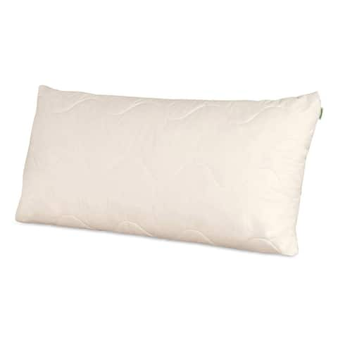 Natura Vibrance Wool Lined Talalay Latex Core Pillow - ivory