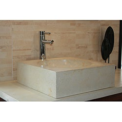 Concrete Cube Ivory Sink