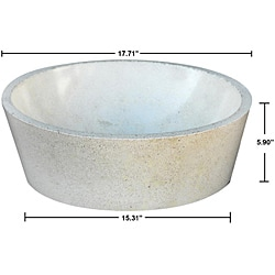 Concrete Full Moon Ivory Sink