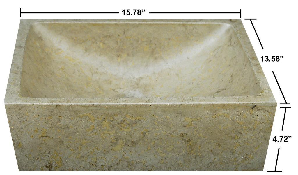 Concrete Half Moon Beige Sink