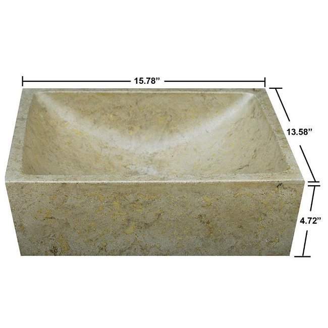 Concrete Half Moon Beige Sink