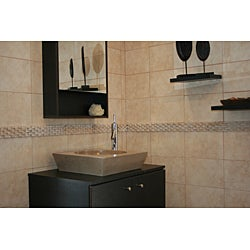 Concrete Round Incline Beige Sink - Thumbnail 1