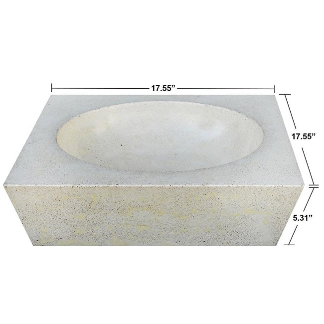 Concrete Round Incline Ivory Sink