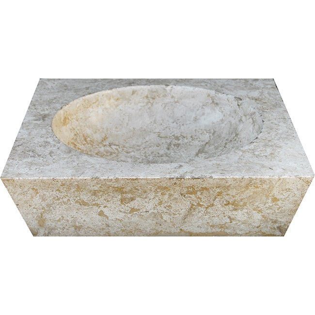 Concrete Round Incline Marble Sink