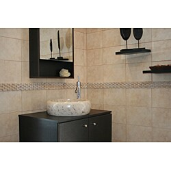 Concrete Round Marble Sink - Thumbnail 1