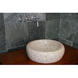 Concrete Round Marble Sink - Thumbnail 2