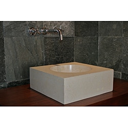 Concrete Small Cube Ivory Sink - Thumbnail 2