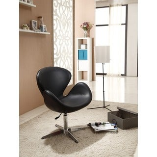 Swan Black Leatherette Adjustable Chair